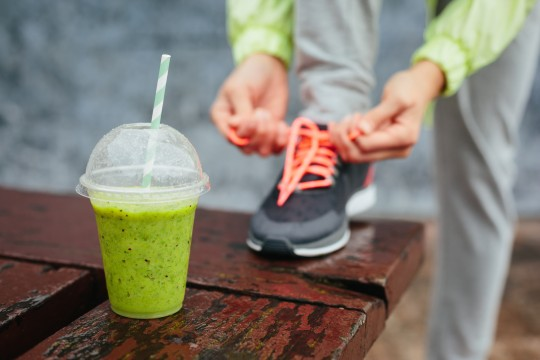 start your day with protein green smoothie